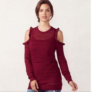 LC Lauren Conrad pointelle sweater